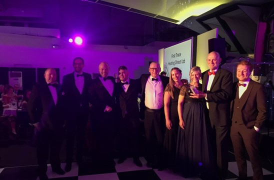 snug underfloor heating first trace north west family business awards staff photo 2