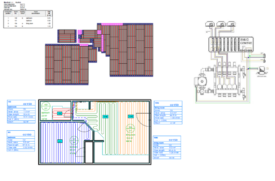 Snug Underfloor Heating Water Underfloor Heating Pipe layouts
